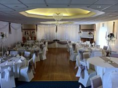 Light curtain and draping to both side walls