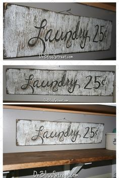 This simple tutorial shows how to hand paint and simple DIY vintage sign. I made this one for my laundry room from scrap wood.