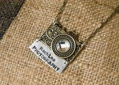 Get your photography business name on a cute necklace like this. Doubles as a name tag (: