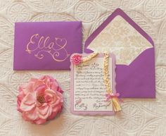 Rapunzel birthday party invitation for a Disney Tangled party