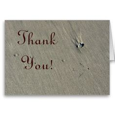 Beach Thank You Card 2 from Florals by Fred #zazzle #gift