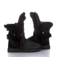 UGG Fox Fur Boots with IN BLACK!