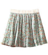 Blue High Waist Houses Print Pleated Chiffon Skirt 16,45€