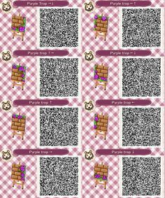 By request: Purple version of the Pink Tropical Path for ACNL