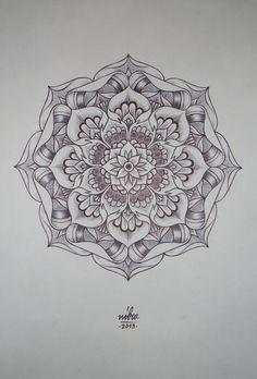 Flower Mandala Original art