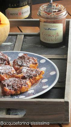 bocconcini di zucca con crema di nocciole/  diced pumpkin with hazelnut cream