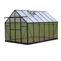 Grandio Ascent 8 x 12 Greenhouse kit  This beautiful hobby greenhouse is the perfect choice for both the hobby and professional gardener!  6mm twin-wall UV protected durable poly carbonate panels  6ft. door height with 7 ft interior height provides plenty of headroom  Heavy duty base kit with 1/2 in. L-bolt concrete anchors for secure mounting into the earth