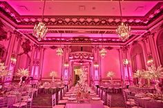 Lighting makes a world of difference at the Fairmont San Francisco #fairmonthotels #wedding #lighting