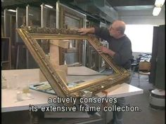 Art Frames Conservation - YouTube (*how to repair and restore a vintage frame)