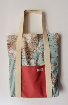 Last one in stock canvas tote bag world map tote bag travel bag canvas tote bag world map tote bag travel bag crossbody bag canvas purse world map bag tote bag with pockets bag etsy and canvas tot gumiabroncs Images
