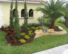 50 Florida Landscaping Ideas Front Yards Curb Appeal Palm Trees_31
