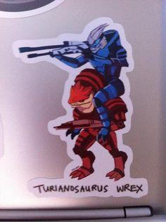 Mass Effect Fun Sticker