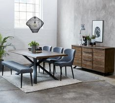 Arno Dining Table in oak veneered, Custom Made Furniture, Furniture Making, Garden Furniture, Dining Area, Dining Chairs, Dining Table, Large Sideboard, Clearance Rugs, Grey Chair