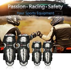 PRO-BIKER Elbow Shin Knee Protector 4PCS Motorcycle Racing Guards Protective Pads for Skating Skateboard Sports Safety