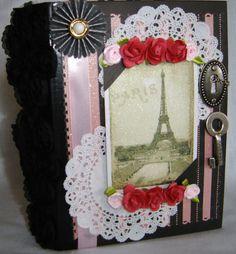 $40.00 Paris Chic envelope scrapbook album