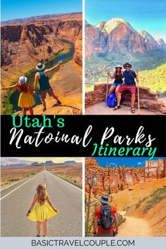 Our Utah National Parks Road Trip itinerary has plenty of options to cross off your bucket list checklist. There is hiking, night skies, arches, bridges, national monuments, national parks, and even Forrest Gump's Hill! You can customize this itinerary for 4 days or even as long as you want. Repin to save for later.