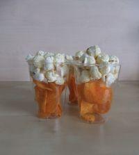 Kinderbier van chips en popcorn.