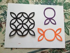 Stamping up lattice die cut. Make candy wrappers.  Add a stick for a lollypop.. Or a hard candy
