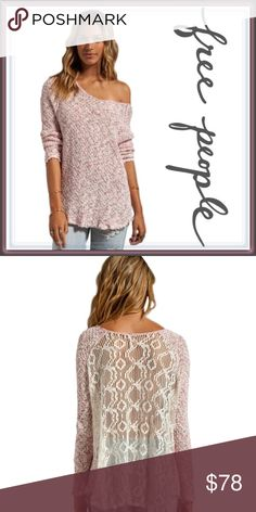 Free People poppyseed pullover ➖BRAND: Free People ➖SIZE: Medium ➖STYLE:poppyseed pullover- a raglan type Sweater with a crochet back giving rage Sweater an extra uniqueness Free People Sweaters Cardigans
