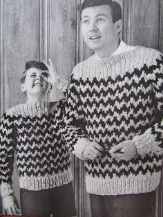 1960's Knitting Patterns Vintage Pattern