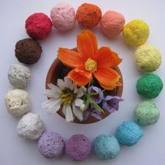 Throw & Grow Wildflower Seed Balls - Zero Waste Gift Idea! Eco Friendly. Great for Gardeners! :)