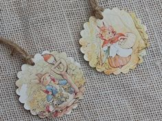 Gift Tags - Beatrix Potter, Peter Rabbit Party Favor Tags, Thank You Tags, Birthday Party Decoration, Party Bag Tags, Baby Shower Favor Tags by ToadHollowNJ on Etsy https://www.etsy.com/listing/218515300/gift-tags-beatrix-potter-peter-rabbit