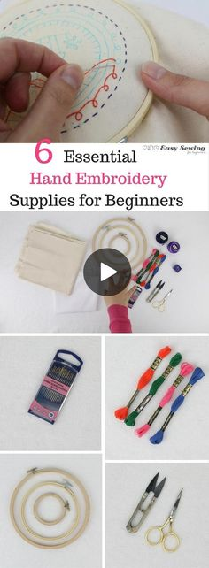 Essential hand embroidery supplies for beginners - hand embroidery for beginners series #Embroideryforbeginners