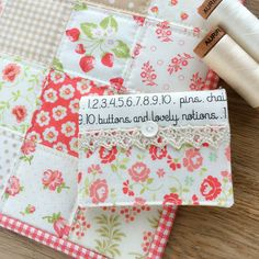 Carried Away Quilting: Simple Zipper Bag. Tutorial from Fat Quarter Shop. Fabric: Fig Tree & Company. Thread: Aurifil. Zippered Pouch. Needle Book. Needlebook. Patchwork Pouch.