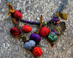 collar de tela de jewlry.colorfull de tejido de por ornadesign