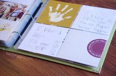 A project life style page might be a cool way to do a get to know you activity for kids.