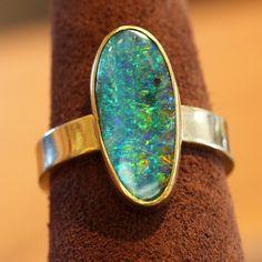Boulder Opal Ring  - Jennifer Kalled