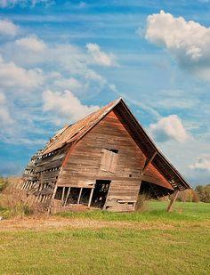 Title  The Crooked Barn   Artist  Kim Hojnacki   Medium  Photograph - Photography