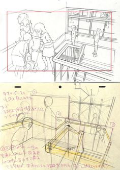. Tutorial Draw, Comic Tutorial, Perspective Drawing Lessons, Perspective Art, Key Drawings, Storyboard, Art Studies, Manga Drawing, Drawing Techniques