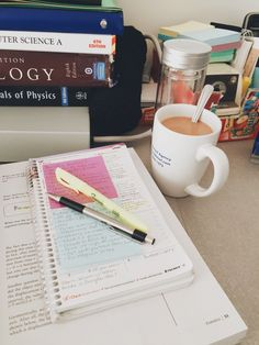 A Study in Coffee - Studying Motivation Tittle Ideas, Study Organization, Coffee And Books, Coffee Study, Coffee Coffee, Study Space, Study Desk, Pretty Notes, School Notes