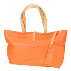 Orange Shoulder Bag with Coin Purse
