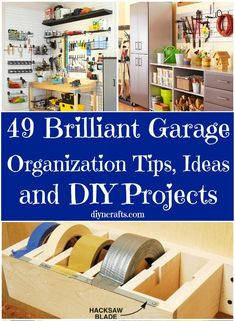 This is brilliant, consider your garage fully organized after reading this! 49 Brilliant Garage Organization Tips, Ideas and DIY Projects Garage Storage, Shed Storage, Door Storage, Organising Ideas, Organization Ideas, Organizing Tips, Garage Organization Tips, Tape Dispenser, Storage Ideas