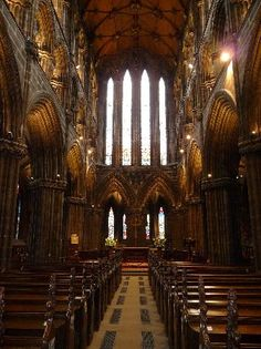 Glasgow Cathedral (Glasgow, Scotland) Is an amazing 12th century Church and the only Medieval church on the Scottish mainland to survive the Reformation