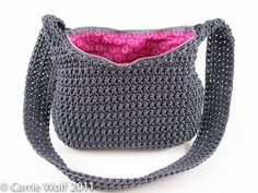 How to insert a zipper and line a crochet purse tutorial