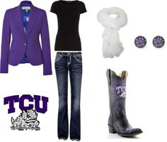 """TCU style"" by erinstrong on Polyvore"