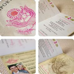 Vintage Passport Destination Wedding Invitation by beyonddesign, $50.00