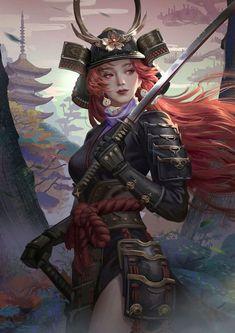 Samuraia Red Hair on dragon-inc 149x210mm