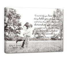 ideas for engagement pictures .. wall art words on photos! Bridal Shower gift for the soon to be newly - weds!