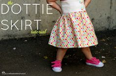 VERY SHANNON: the dottie skirt tutorial - color your summer 2012!