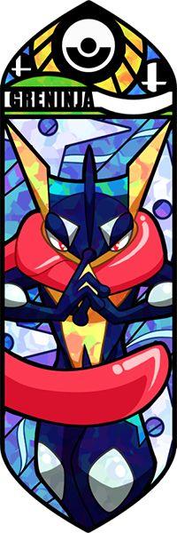 Fan art Pokémon en vitrail -
