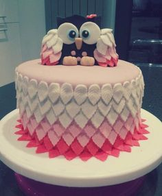 Le cake design hibou d'Helo