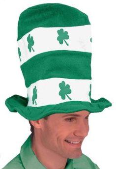 Patrick's Day Costume Party Shamrock Stovepipe Hat, Green/White, One Size St Patrick's Day Costumes, Baby Costumes, Adult Costumes, Costume Ideas, Silly Hats, Crazy Hats, St Patricks Day Hat, Irish Celebration, Novelty Hats