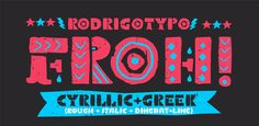New! Froh by RodrigoTypo ☞ https://www.hypefortype.com/catalog/product/view/id/30466/category/454