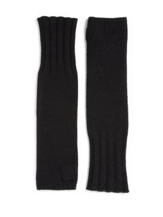 Helmut Lang - Long Cashmere/Mohair Fingerless Gloves