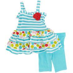Bonnie Baby Infant Girl Dot and Stripe Tunic Set #VonMaur