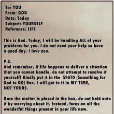 the letter from god